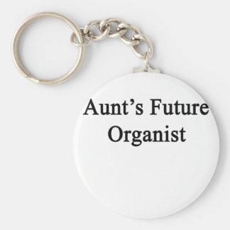 Future Organist de tía Llavero Redondo Tipo Pin