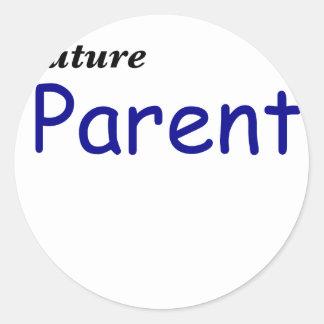 Future Parent Classic Round Sticker