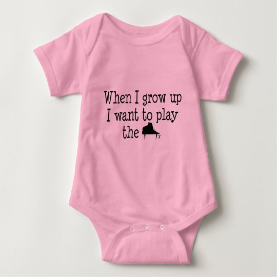 Future Piano Player Baby Bodysuit