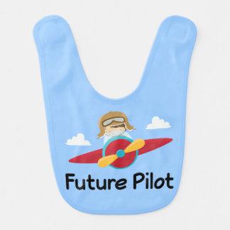 Future Pilot Airplane Baby Bib