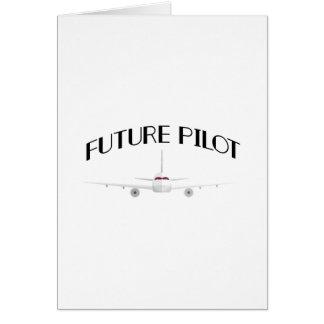 Future Pilot Funny Airplanes Boys Girl Men Card