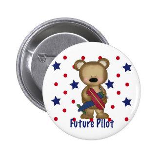 Future Pilot Little Bear 2 Inch Round Button