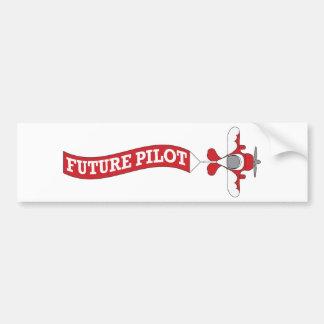 Future Pilot - Plane with Banner Bumper Sticker