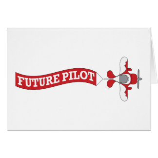 Future Pilot - Plane with Banner Greeting Card