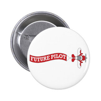 Future Pilot! Plane with Banner Pinback Button