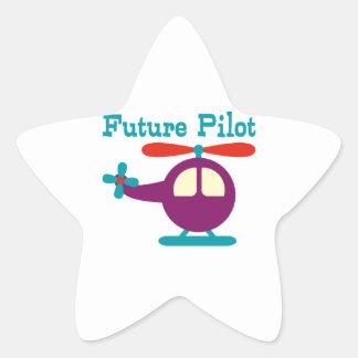 Future Pilot Star Sticker