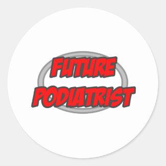 Future Podiatrist Classic Round Sticker