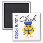 Future Police Chick Fridge Magnets
