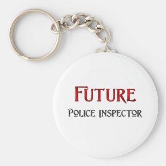 Future Police Inspector Basic Round Button Keychain
