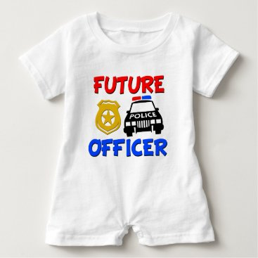 Toddler & Baby themed Future Police Officer baby boy shirt