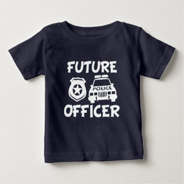 Toddler & Baby themed Future Police Officer baby shirt