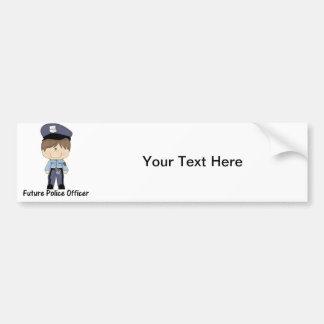 future police officer (boy) bumper sticker