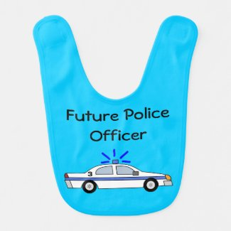 Future Police Officer Car Bib for Wife's Baby