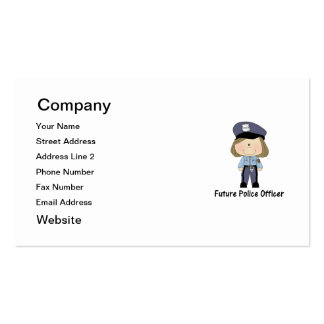future police officer (girl) business card templates