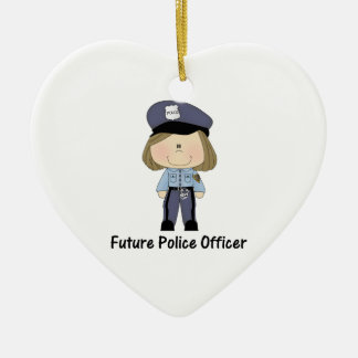 future police officer (girl) christmas ornaments