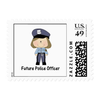 future police officer (girl) stamps