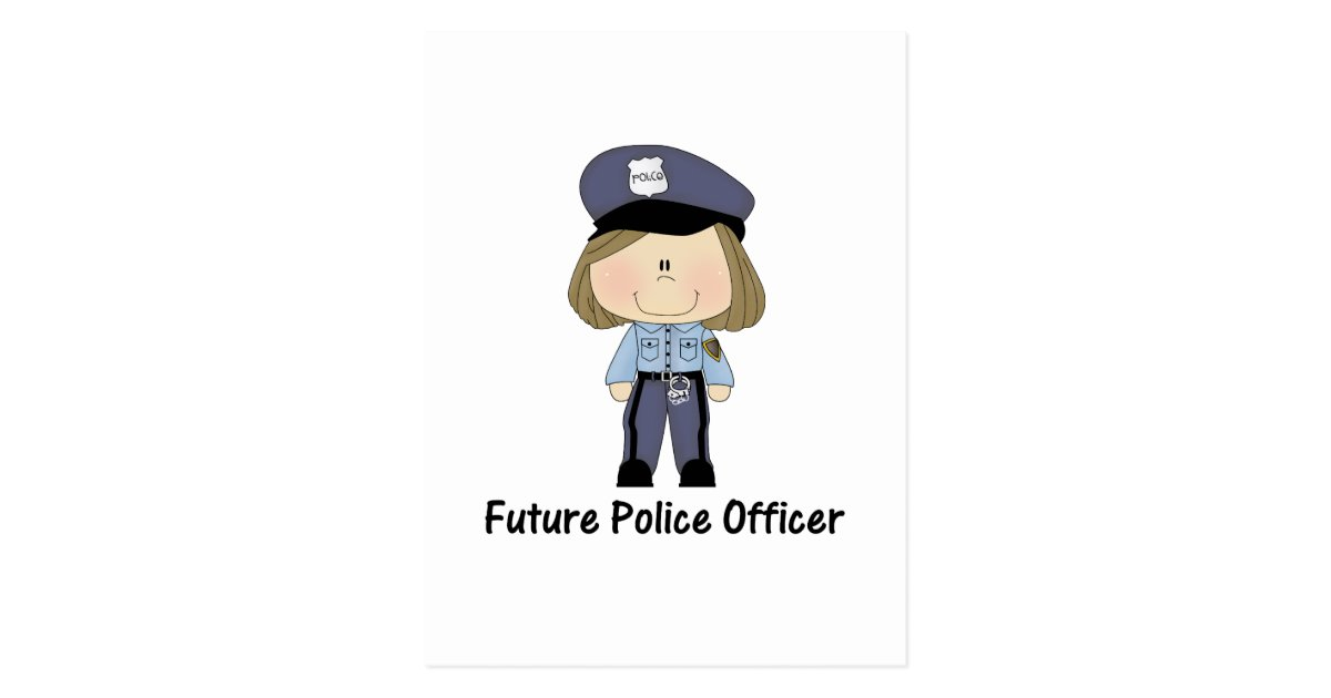 future police officer (girl) postcard | Zazzle
