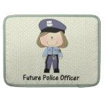 future police officer (girl) sleeves for MacBooks
