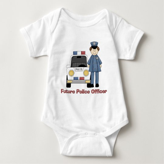 Future Police Officer Male Baby Bodysuit