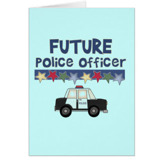 Future Police Officer T-shirts and Gifts Card