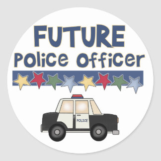 Future Police Officer T-shirts and Gifts Classic Round Sticker