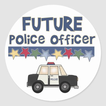 Toddler & Baby themed Future Police Officer T-shirts and Gifts Classic Round Sticker