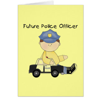 Future Police Officer Tshirts and Gifts Card