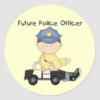 Future Police Officer Tshirts and Gifts Round Stickers