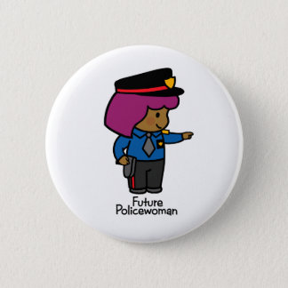 Future Policewoman Button