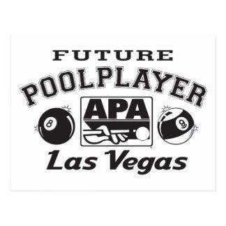Future Pool Player Las Vegas Postcard