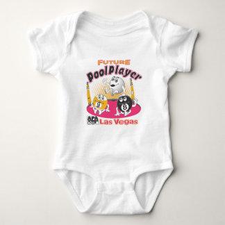Future Pool Player - Pink Baby Bodysuit