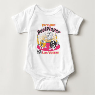 Future Pool Player - Pink Baby Bodysuit