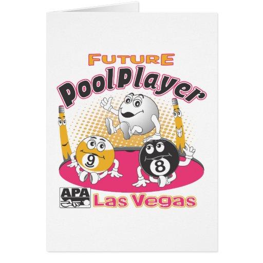 Future Pool Player - Pink Greeting Card