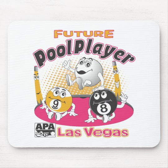 Future Pool Player - Pink Mouse Pad