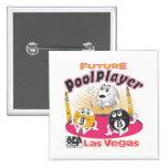 Future Pool Player - Pink Pinback Button