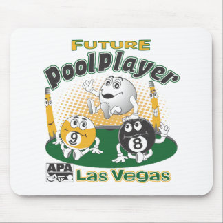 Future Pool Player - Yellow Mouse Pad