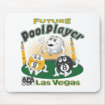 Future Pool Player - Yellow Mousepads