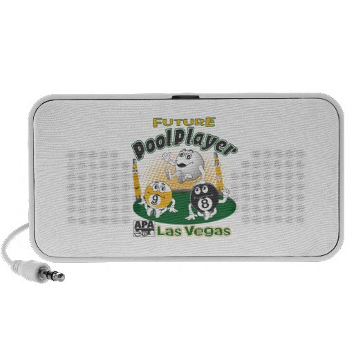 Future Pool Player - Yellow Portable Speaker