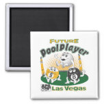 Future Pool Player - Yellow Refrigerator Magnets