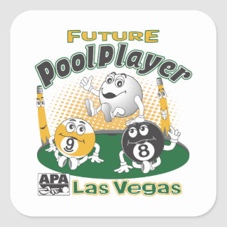 Future Pool Player - Yellow Square Stickers