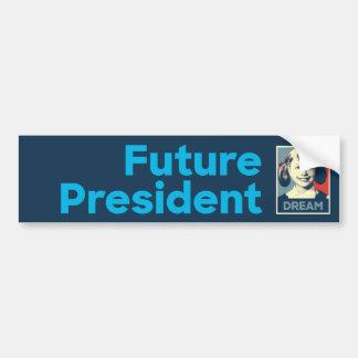 Future President Hillary Bumper Sticker - Navy