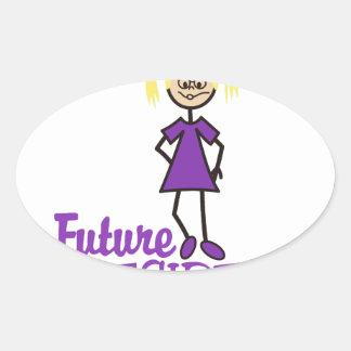 Future President Oval Sticker