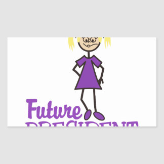 Future President Rectangular Sticker