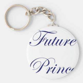 Future Prince Basic Round Button Keychain