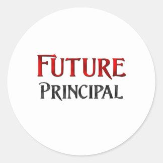 Future Principal Classic Round Sticker