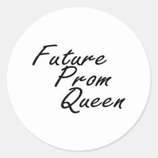 Future Prom Queen Classic Round Sticker