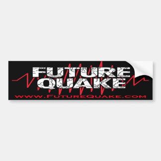 Future Quake Bumper Sticker With Website