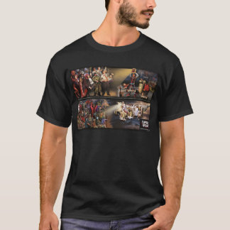 Future Quake Mural/Fancy Logo Dark Shirt