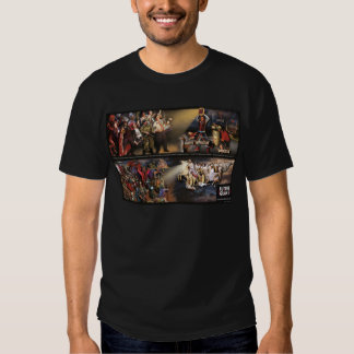 "Future Quake Mural/""Shakey"" Logo Dark Shirt"