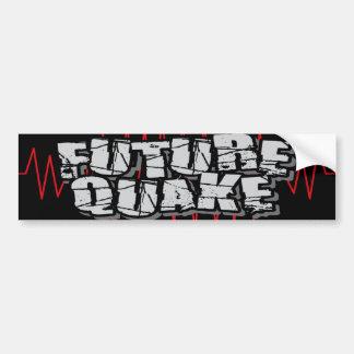 "Future Quake ""Shakey"" Bumper Sticker Car Bumper Sticker"
